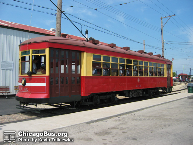 streetcar 3142 preserved at the illinois railway museum the first overhead trolley car