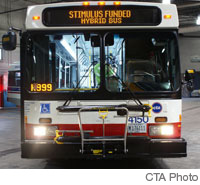 Photo of bus #4150 at a CTA Garage. CTA Photo