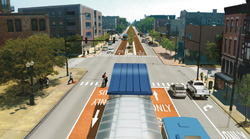 Proposed Ashland Avenue conditions. CTA rendering.