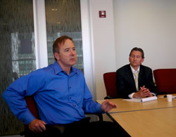 CTA President Forrest Claypool and CTA spokesman Brian Steele. Photo by Steven Vance.