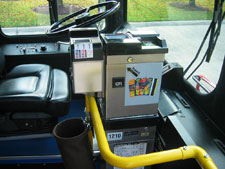 Photo of a farebox on a CTA bus.