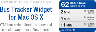 Bus Tracker Widget for Mac OS X